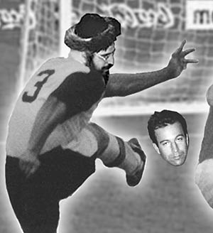 Jew soccer player kicking the head of Daniel Pearl
